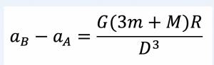 formula gravità Terra + gravità Luna + forza centrifuga nel punto C
